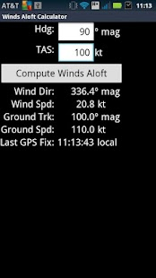 Winds Aloft Calculator- screenshot thumbnail