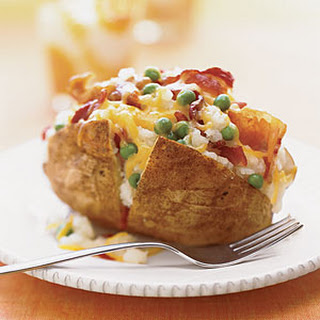 Bacon-and-Pea-Stuffed Potatoes