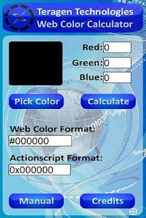 Teragen Web Color Calculator- screenshot thumbnail