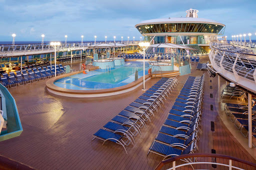 Rhapsody-of-the-Seas-Pool-Deck - Rhapsody of the Seas has both an outdoor and an adults-only indoor pool.