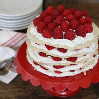 Gluten-Free Raspberry Crepe Cake.
