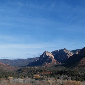 SEDONA TODAY. by Chuck Cross - Landscapes Mountains & Hills