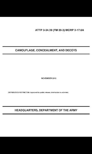 Army Camouflage Concealment