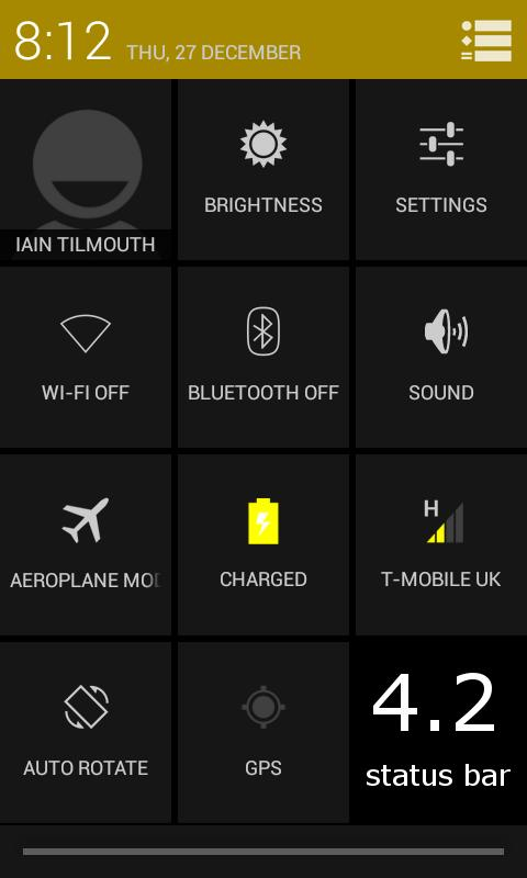 TESLA YELLOW CM / AOKP THEME - screenshot