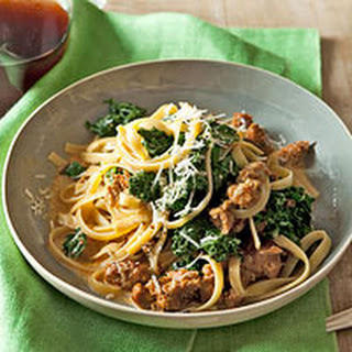 Fettuccine with Sausage & Kale