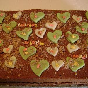 """Brigadeiro"" Cake Stuffed with White Chocolate and Puff Pastry"
