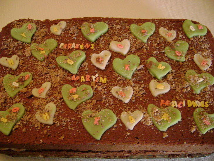 """Brigadeiro"" Cake Stuffed with White Chocolate and Puff Pastry Recipe"