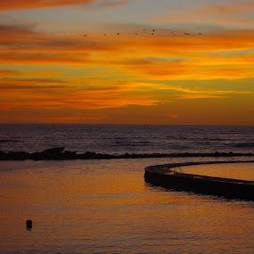 Magical Sunset by Gabriel Cabrera - Landscapes Sunsets & Sunrises ( magic, sun set, resort, beach, landscape )
