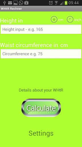 WHtR Calculator