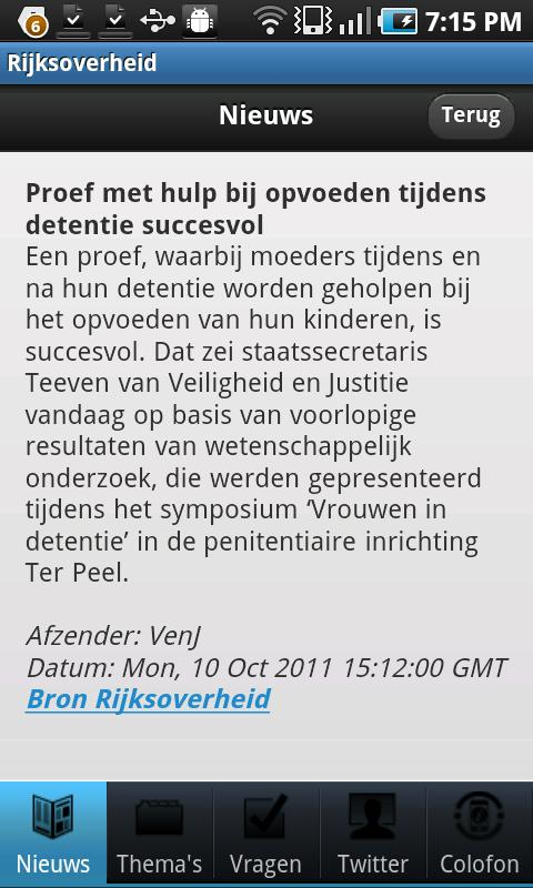 Rijksoverheid- screenshot