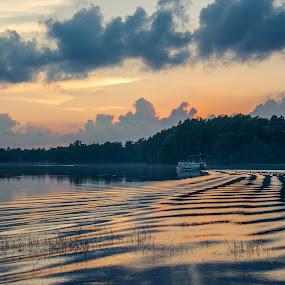 Ripple Effect by Luke Collins - Landscapes Waterscapes ( wisconsin, lake wazeecha, camping, wood county, d7100, august, nikon, landscape )