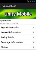 Screenshot of Unity Mobile