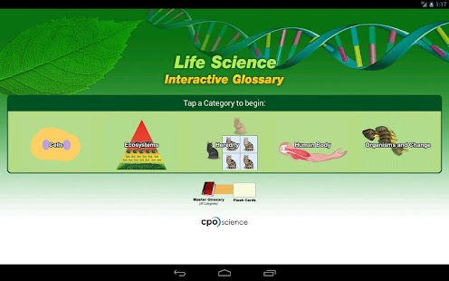 Life Science Glossary- screenshot thumbnail