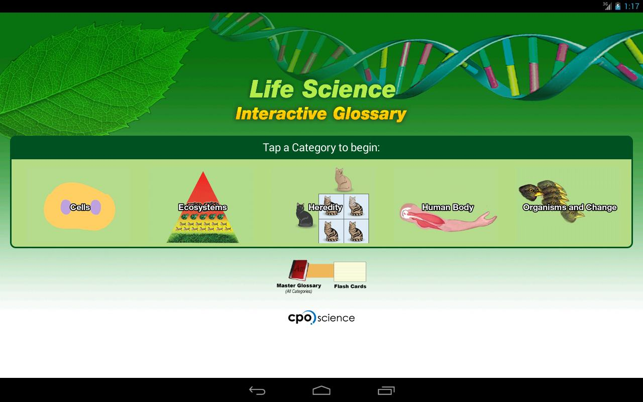 Life Science Glossary- screenshot