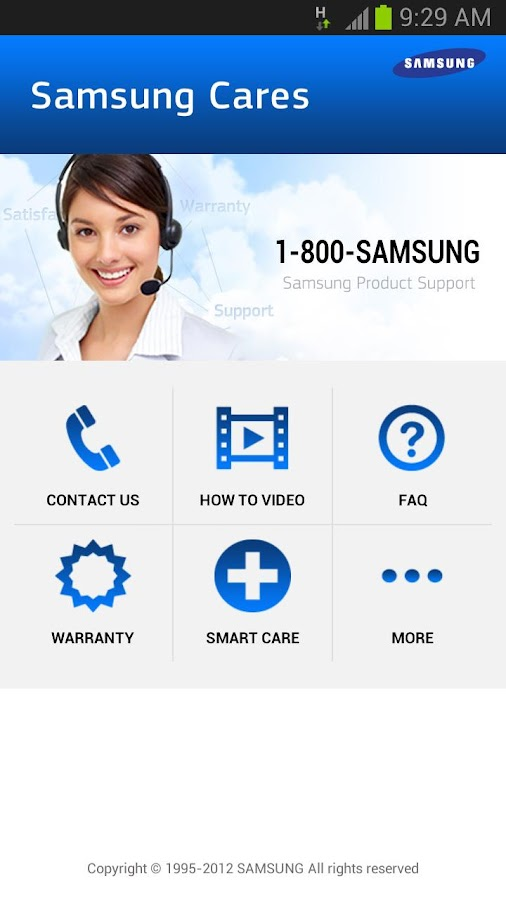 Samsung Cares: captura de pantalla