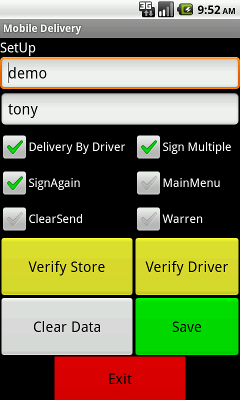 eDelivery- screenshot