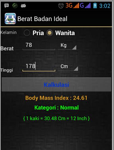 【免費健康App】Berat Badan Ideal-APP點子