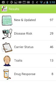 23andMe Mobile - screenshot thumbnail