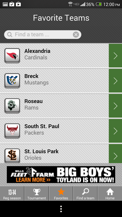 Girls' Hockey Scoreboard - screenshot