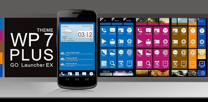 WP7 Plus GO LauncherEX Theme v1.0 Apk Android