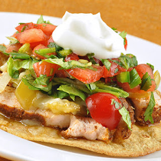 Grilled Chicken and Tomatillo Tostada