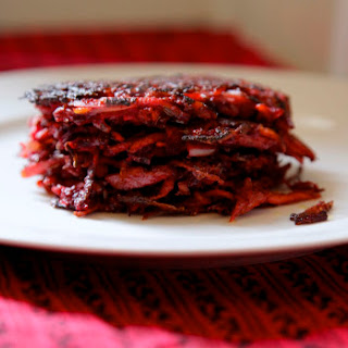Beet and Carrot Caraway Fritters