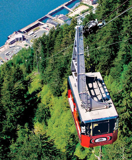 Mt-Roberts-Tramway - As you leave the Princess cruise ship pier in Juneau, you'll take a short walk to board a tram for the scenic ride up Mount Roberts.