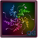 Swirl Neon Parallax LWP icon