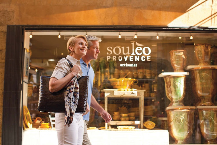 Shopping is a part of most cruise experiences. Check out special collections like the colorful earthenware from Souleo Provence in the South of France during your Seabourn travels.