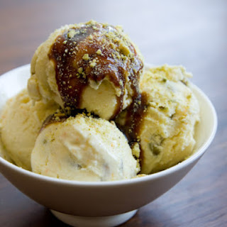 White Sesame Pistachio Crunch Ice Cream