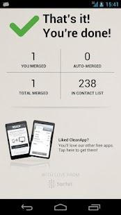 Contact Clean App- screenshot thumbnail
