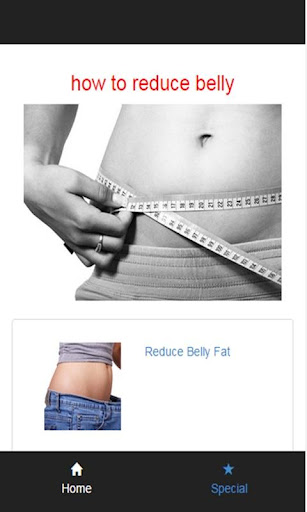 how to reduce belly
