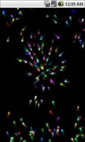 Screenshot of Colored Particles Live Wallpap