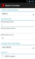 Screenshot of Ebook Converter