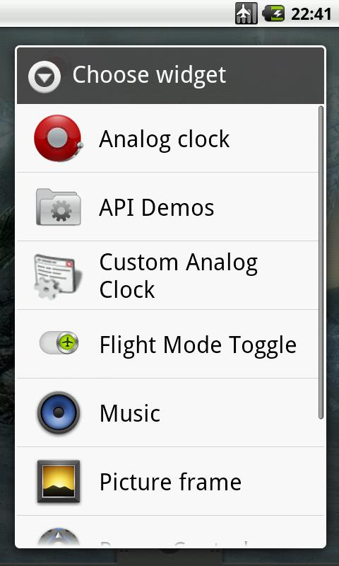 Flight Mode Toggle Widget - screenshot