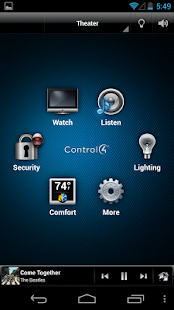 Control4® MyHome- screenshot thumbnail