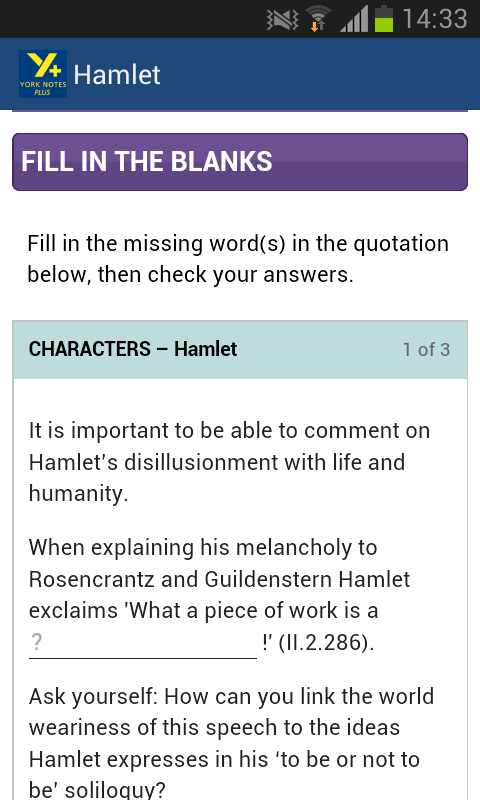 Hamlet AS & A2- screenshot