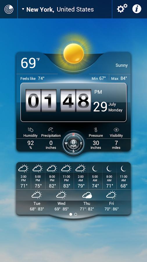 Thời tiết Động - screenshot