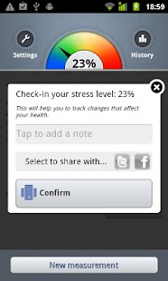 Stress Check by Azumio – Miniaturansicht des Screenshots
