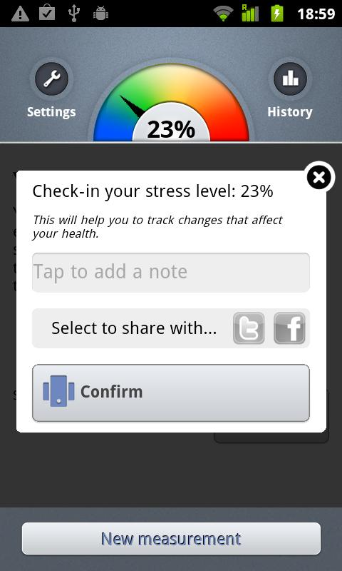 Stress Check by Azumio – Screenshot