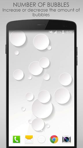 White Bubble Live Wallpaper