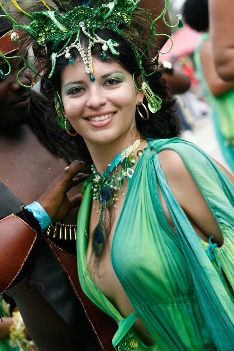 A performer during Carnival on Trinidad and Tobago.