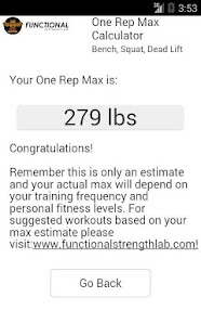 One Rep Max Calculator- screenshot thumbnail