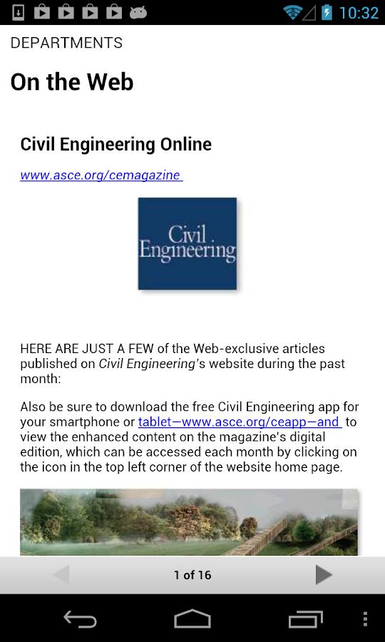 Civil Engineering Magazine - screenshot