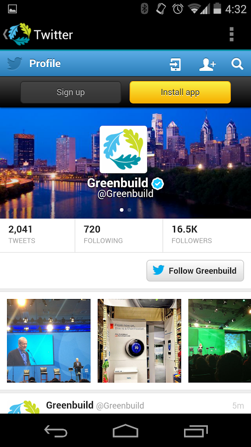 Greenbuild 2013 - screenshot