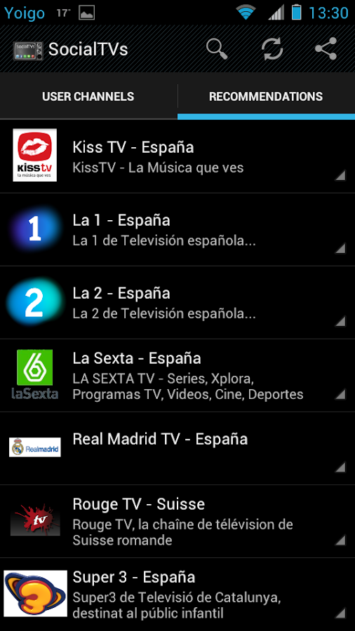 SocialTVs - Live Social TV - screenshot