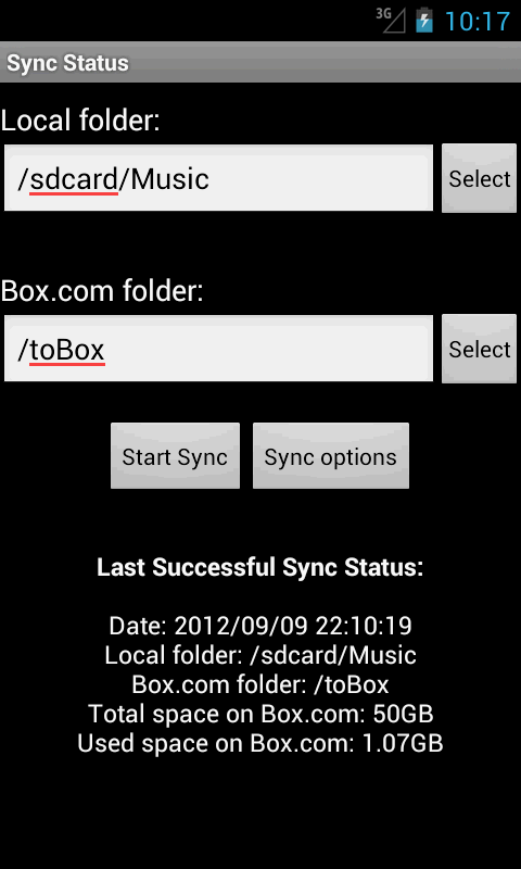 Easy Box Sync - screenshot
