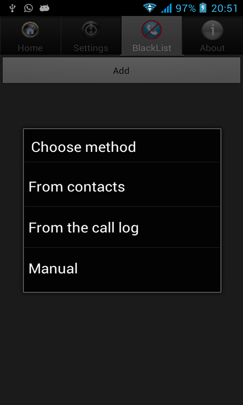 Block incoming calls addfree - screenshot
