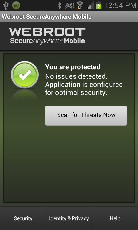 Webroot Security & Antivirus - screenshot