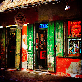 Voodoo Shop by Randi Grace Nilsberg - Digital Art Places ( bourbon street, shop, new_orleans, colorful, bright, textures, louisiana, voodoo )